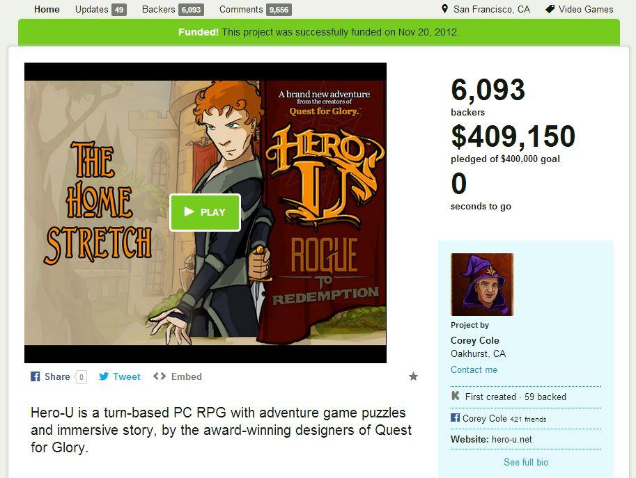 Hero U Kickstarter Campaign